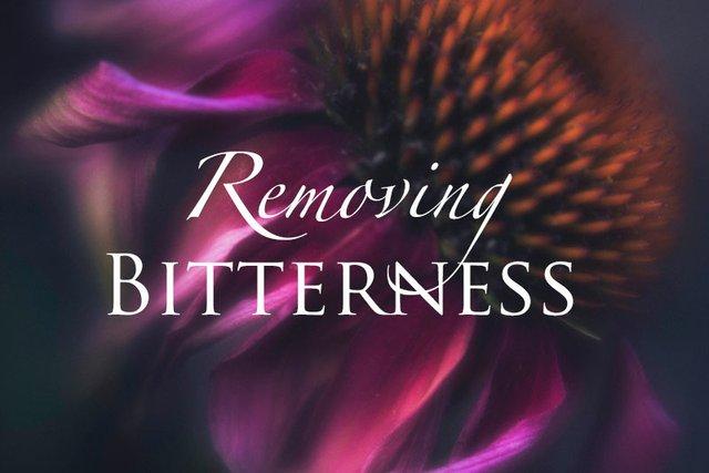 Removing Bitterness