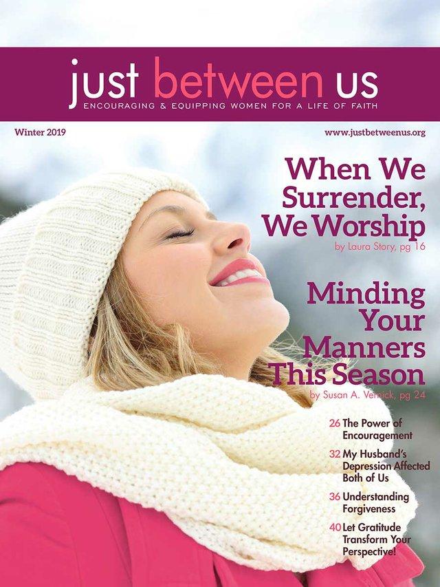 Just Between Us (JBU) Winter 2019 Cover