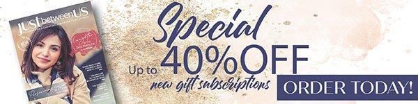 JBU 40% Off Subscriptions Ad | Display
