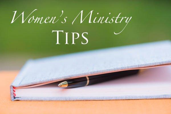 Women's Ministry  Tips